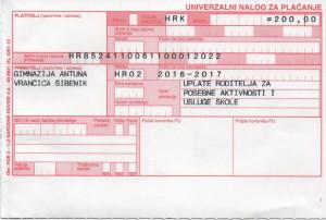 UPLATNICA 001